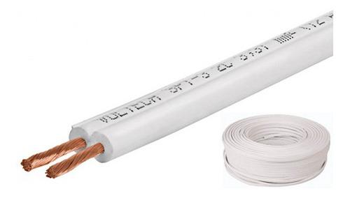 Imagen 1 de 1 de Cable Duplex 2 X 18 Blanco X 100 Metros Procables