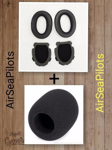 Kit 3 Pares Espuma Para Headset Bose A10 E A20 + Espuma Microfone Gratis