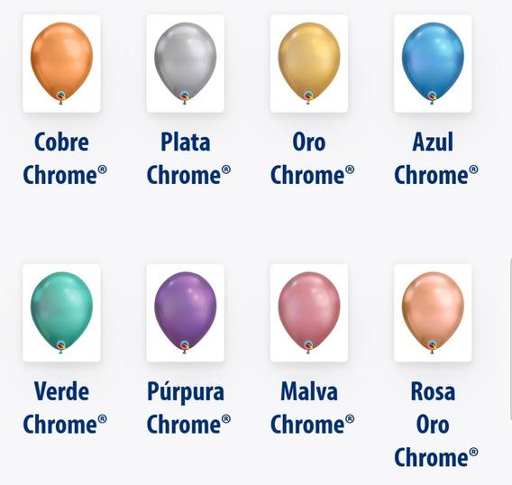 10 Gllobos Chrome Surtidos A Escoger
