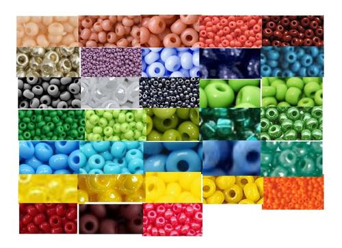 Imagen 1 de 8 de Chaquira 11/0 Checa Calibrada Escoge Colores 24 Bolsas De 5g