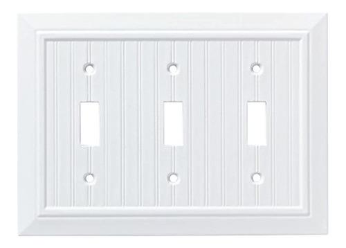 Placa De Pared Cubierta Para Interruptor Color Blanco