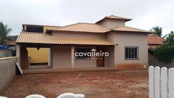 Casa Residencial 3 Quartos Sendo 1 Suite À Venda, A Uma Rua Da Praia De Itaúna, Saquarema. - Ca1932