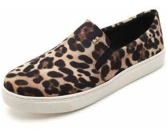 Slip On Santa Lolla Veludo Onça Animal Print 01ac