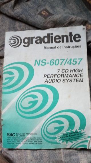Manual Original Do Gradiente Concept Ns-607/457 Som Antigo