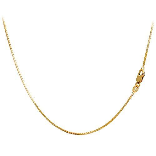 25b6ff33c1eb Caja De Oro Amarillo De 14q Cadena Veneciana De 1 Mm 18 P..