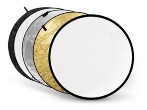 Rebatedor 5 Em 1 - 110cm Branco Preto Prata Dourado Difusor