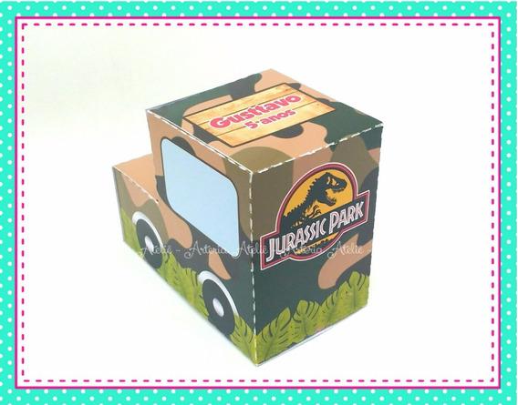 10 Caixa Jipe Lembrancinha Jurassic Park World Dinossauro