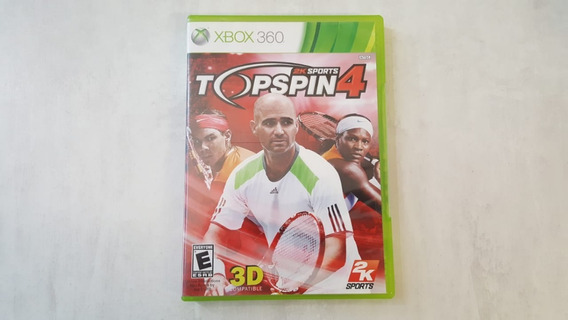 2k Sports Top Spin 4 - Xbox 360 - Original - Mídia Física