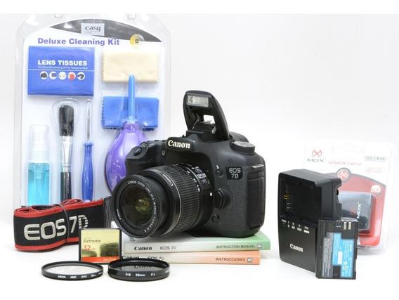Canon 7d + 18-55mm + 32gb + Brindes Com 35.000 Cliques !!