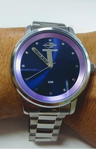 Relógio Mormaii Aço Lilás Prova D
