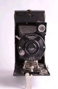 Câmera Antiga Sanfona Ensign Inglesa 1926 Vintage