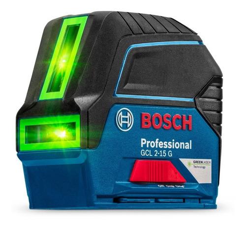 Nivel Láser De Líneas Verdes 15 M Con Puntos Bosch Gcl 2-15