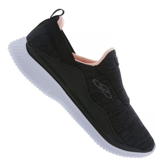 Tênis Preto Esportivo Confortável Slip Lofty Feminino