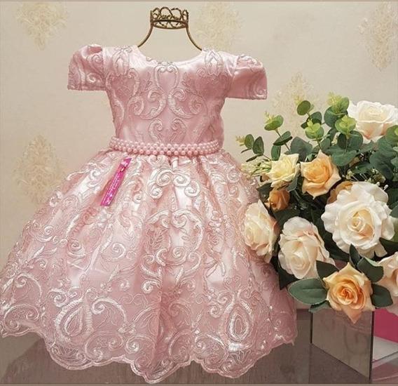 Vestido Infantil Luxo Princesa Realeza Festa Menina