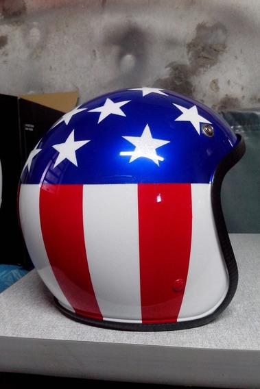 Capacete Peter Fonda Easy Rider Old School Harley Davidson