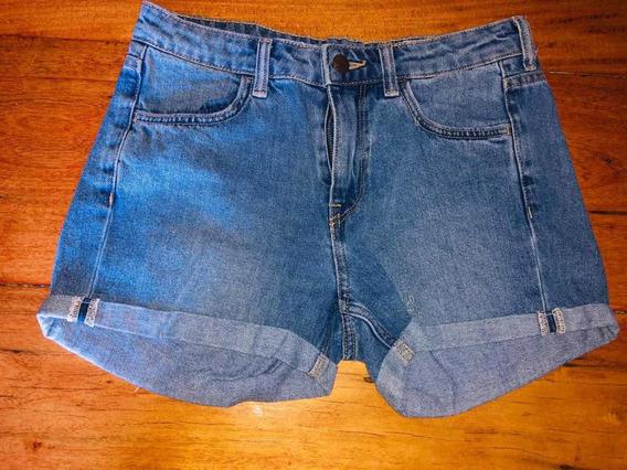 Short De Jeans Talle 24 H&m Usado Original