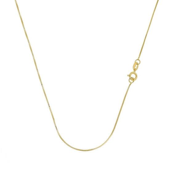 Cordão Veneziano 45cm Folheado A Ouro 18k