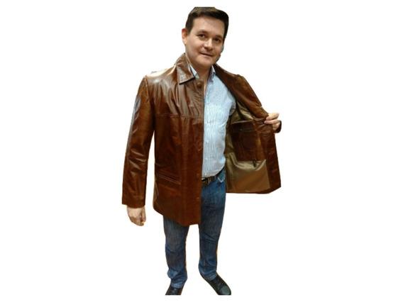 Campera Cuero Tipo Saco Día Padre Envío Gratis Guns Leather