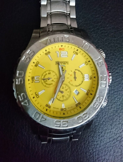 Relógio Ferrari Masculino Import, Mostrador Amarelo 07011833
