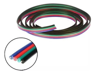 5mts Cable Rgb Para Tira Led Chato Apto Exterior Ip65 5050 3528 Kaiser Led