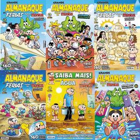 Kit 6 Ed. Almanaque Grande Turma Da Mônica E Passa Tempos