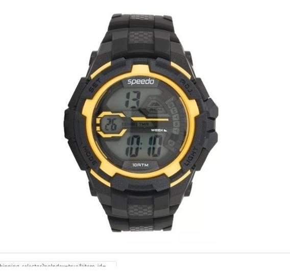 Relógio Speedo Crono Luz Digital Masculino Wr100 52mm Sport