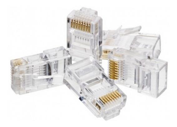 Conector Macho Cat5e Rj45 Pacote C/ 100