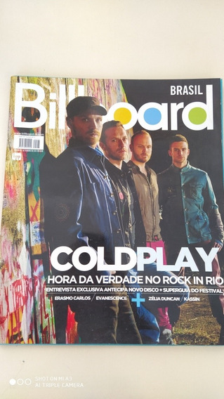 Billboard 23 Coldplay Amy Lee Elza Soares Erasmo Carlos