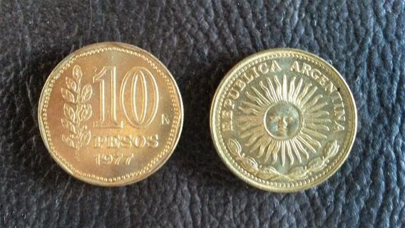 Monedas Argentinas De 10 Pesos Años 1976 A 1977 Cant: 56
