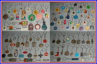 Coleção Lote Com 100 Chaveiros ( 46 Metálicos E 54 Outros )
