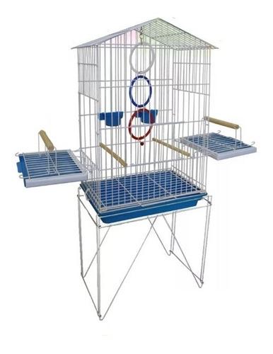 Imagem 1 de 1 de Gaiola 2 Em 1 Brinquedos Para Calopsitas Filhote Playground