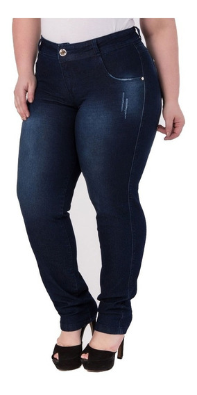 Kit 3 Calça Jeans Feminina Cintura Alta Com Lycra Promoção