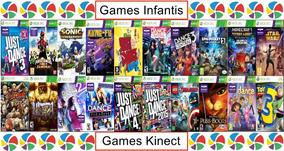 Xbox 360 Combo 20 Jogos Infantil E Kinect Mídia Digital