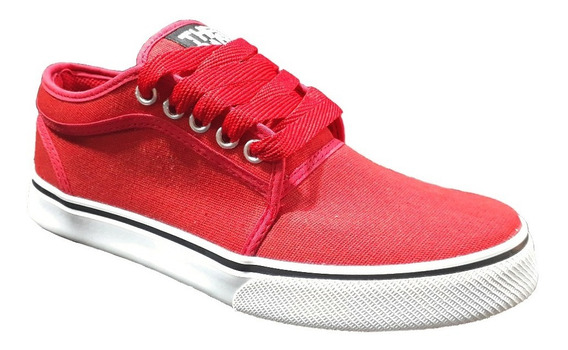 Zapatilla Skate Unisex De Lona Urbanas Rojas The Dark King