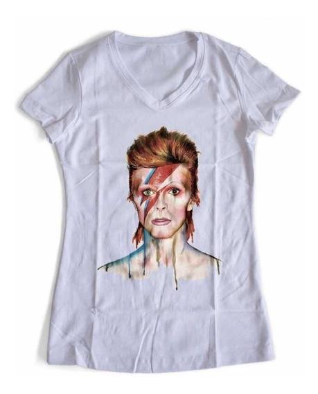 Playera David Bowie Acuarela 02