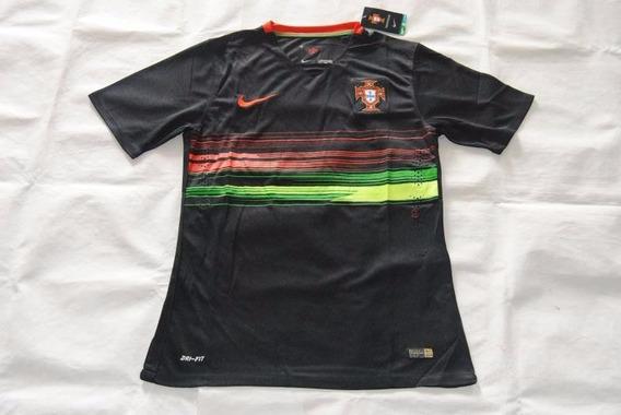 Camisa Nike Portugal Preta Linda Diferenciada