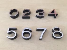 Jogo 160 Numero Metal Aluminio 3cm Kabel Faca P/ Apartamento
