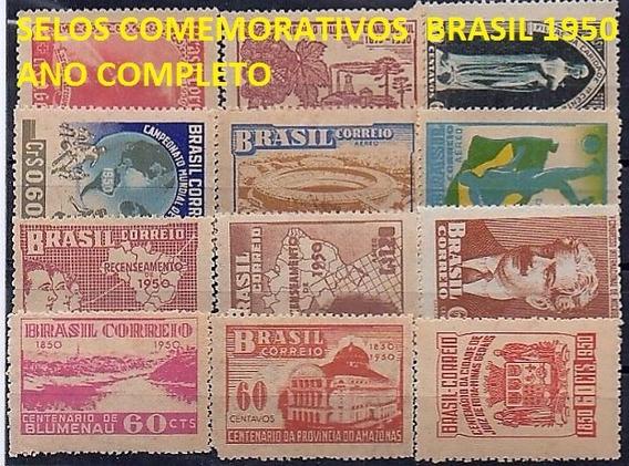 1950/1953 - 04 Anos Completos Selos Comemorativos Brasil