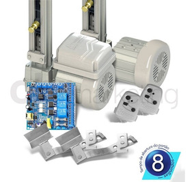 Kit Motor Duplo Portão Basculante 1/4 Fast Peccinin