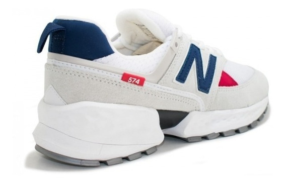 Tênis New Balance 574 Branco C/vermelho