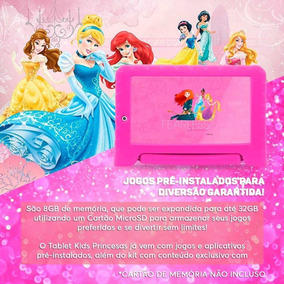 Tablet Multilaser Princesas Plus 7p Quad 8gb 2c Rosa - Nb281