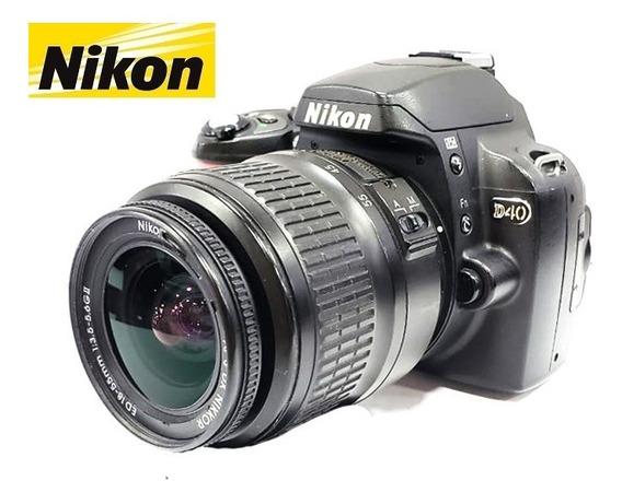 Câmera Nikon D40 6,1mp Kit Com Lente Nikon Dx 18-55mm Af-s