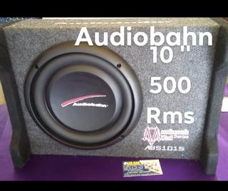 Cajon Subwoofer 10 Pulgadas Plano Audiobanh 500 Rms