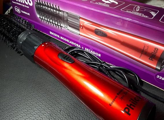 Escova Rotativa Philco Spin Brush Vermelha 220v - Seminova