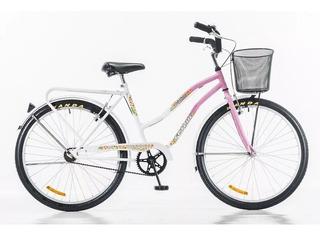 Bicicleta Futura Rod 24 Full Dama Canasto Bicolor Lofthogar