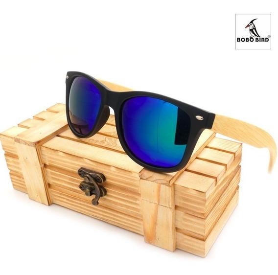 Óculos De Sol Bobo Bird® Com Hastes De Bambu Uv400 - Oferta