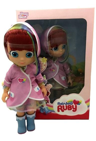 Boneca Grande Rainbow Ruby Com Capa - Baby Brink (1842)