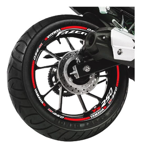 Kit Adesivo Friso Refletivo Yamaha Fazer 250 + 8 Internos