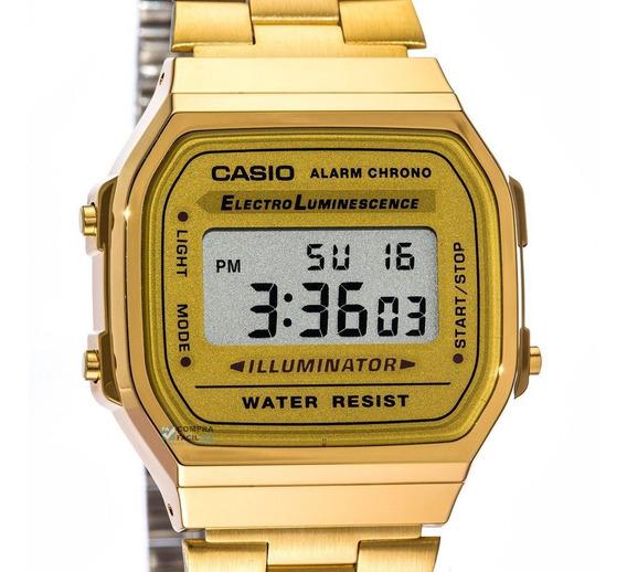 Reloj Casio Dorado A168 Vintage Mayoreo