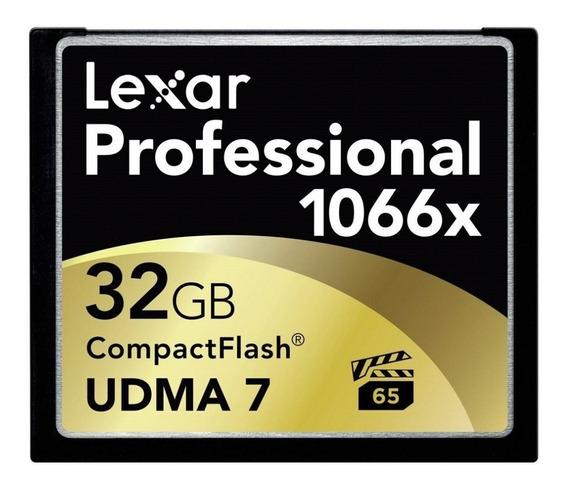 Memoria Compact Flash 32 Gb Lexar 1066x Professional Premium